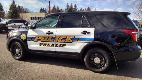 A 2014 Ford SUV will replace the Tulalip Police Department's older Dodge Charger patrol vehicles. (Tulalip News/ Brandi N. Montreuil)