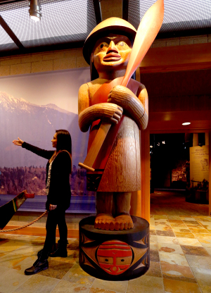 Kwani Williams, who is Tulalip and Lummi, leads a tour at the Tulalip... (Alan Berner/The Seattle Times)