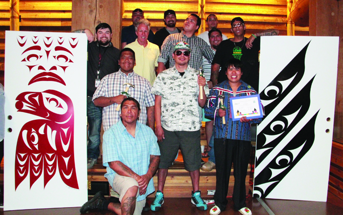 Tulalip Tribes' Construction Training Program graduates and instructors. Photo/Mara Hill