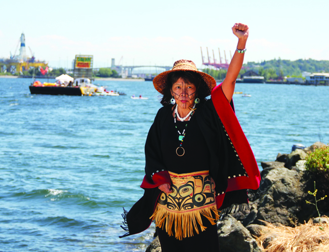 Sweetwater Nannauck, Director of Idle No More Washington. Photo/Micheal Rios