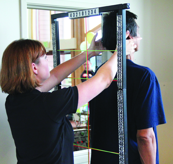 Attendees recieved a free posture analysis from Health First Chiropractic of Marysville.