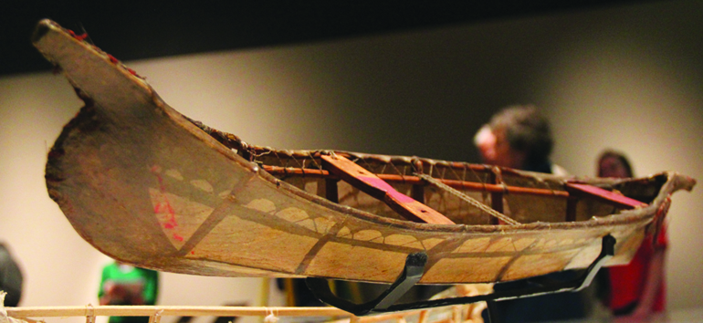 The model Angyaaq, which means 'open boat' to the Sugpiat peoples of Alaska. Photo/Micheal Rios