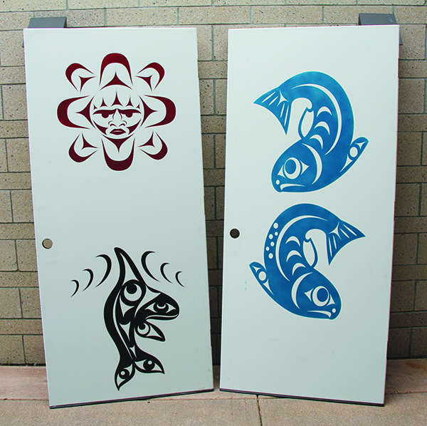 Native design doors by Tulalip tribal member Ty Juvinel. Photos/Micheal Rios