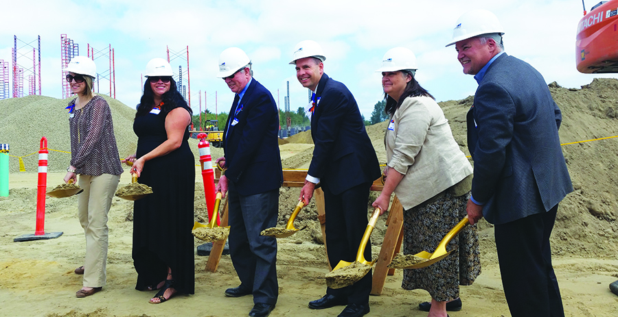 Tulalip Tribes General Manager, Misty Napeahi (2nd from the left), joins local community officials at the hospital's July groundbreaking ceremony.