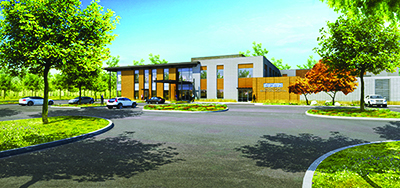 Smoky Point Behavioral Hospital rendering by CollinsWoerman, Architects.