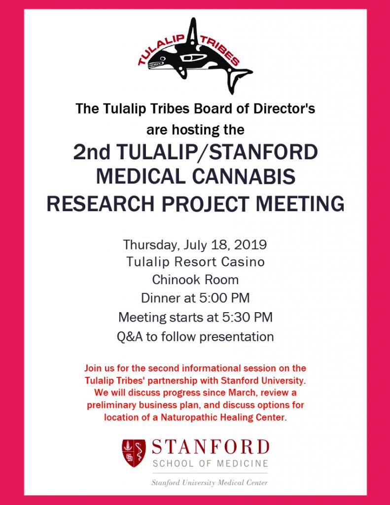 Stanford Medical Cannabis Research Project Meeting, July 18